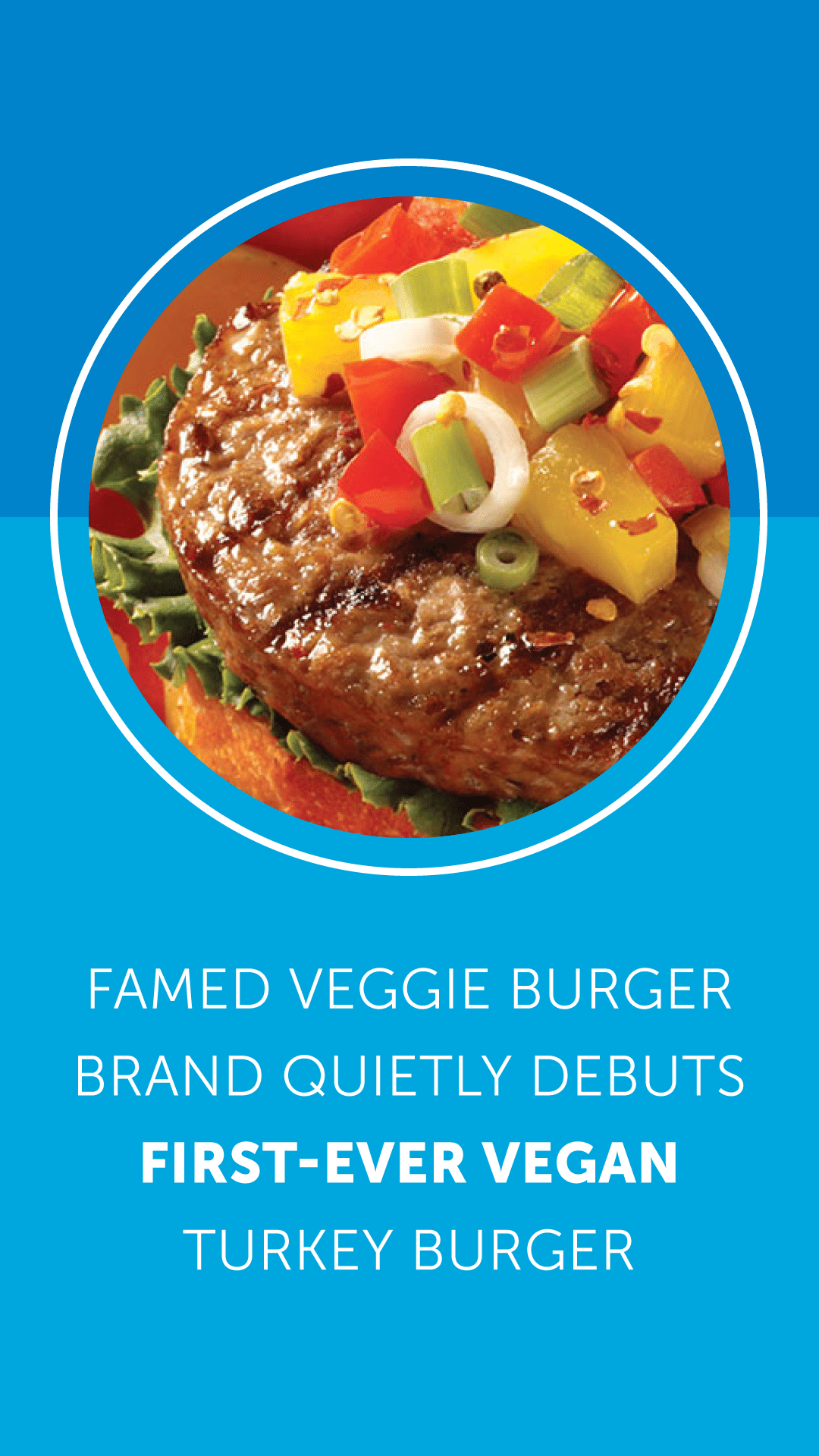 Famed Veggie Burger Brand Quietly Debuts First-Ever Vegan Turkey Burger