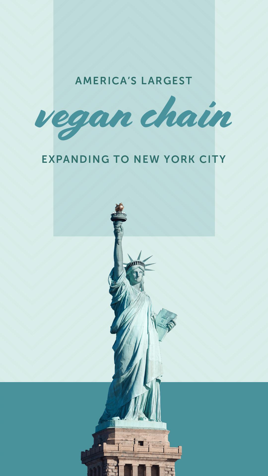 America's Largest Vegan Chain Expanding to New York City