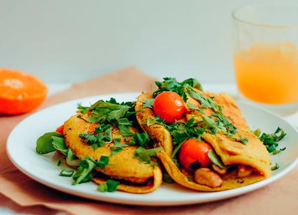 omelet vegano sin huevo