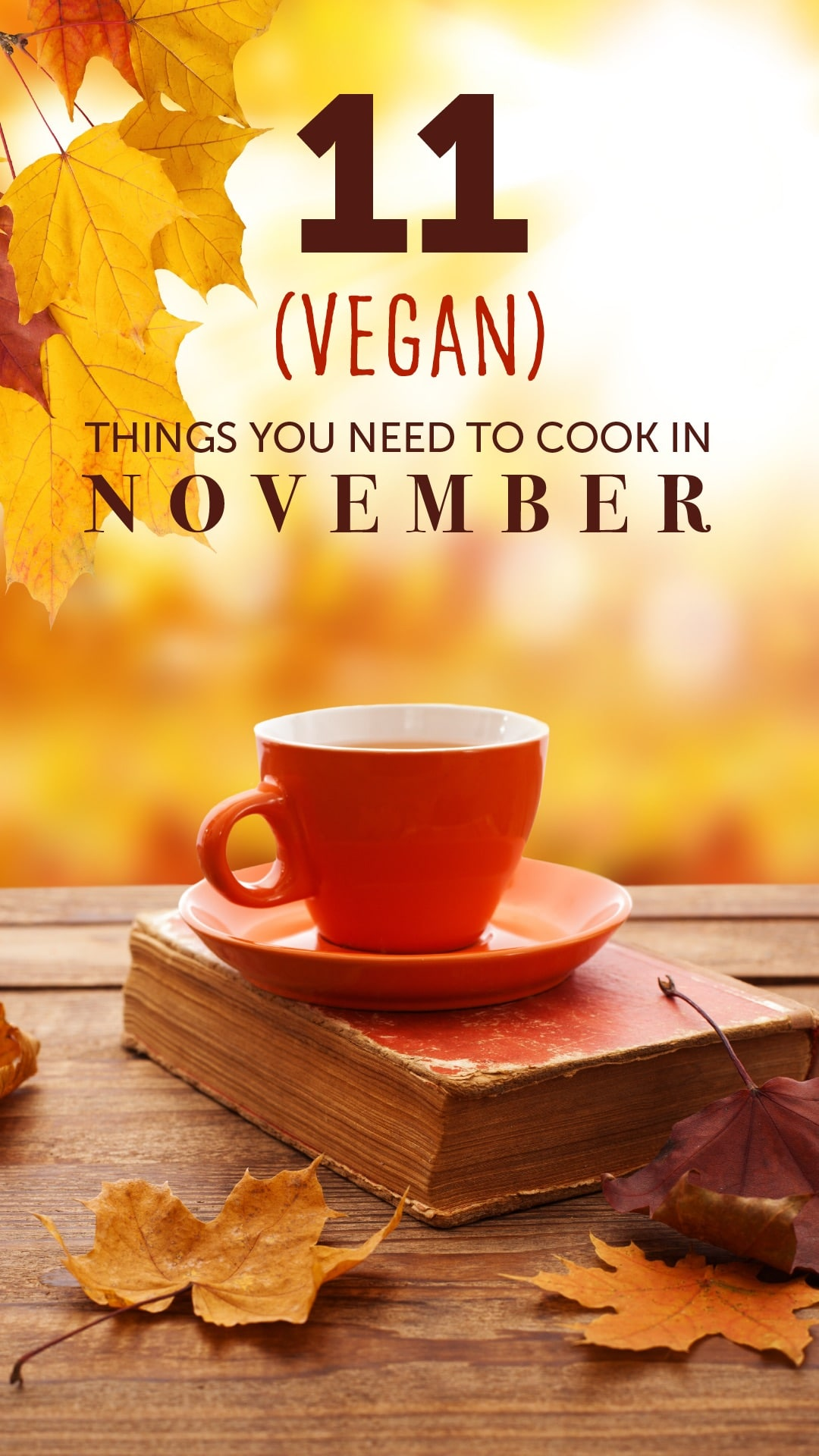 11 (Vegan) Things You Need to Cook in November