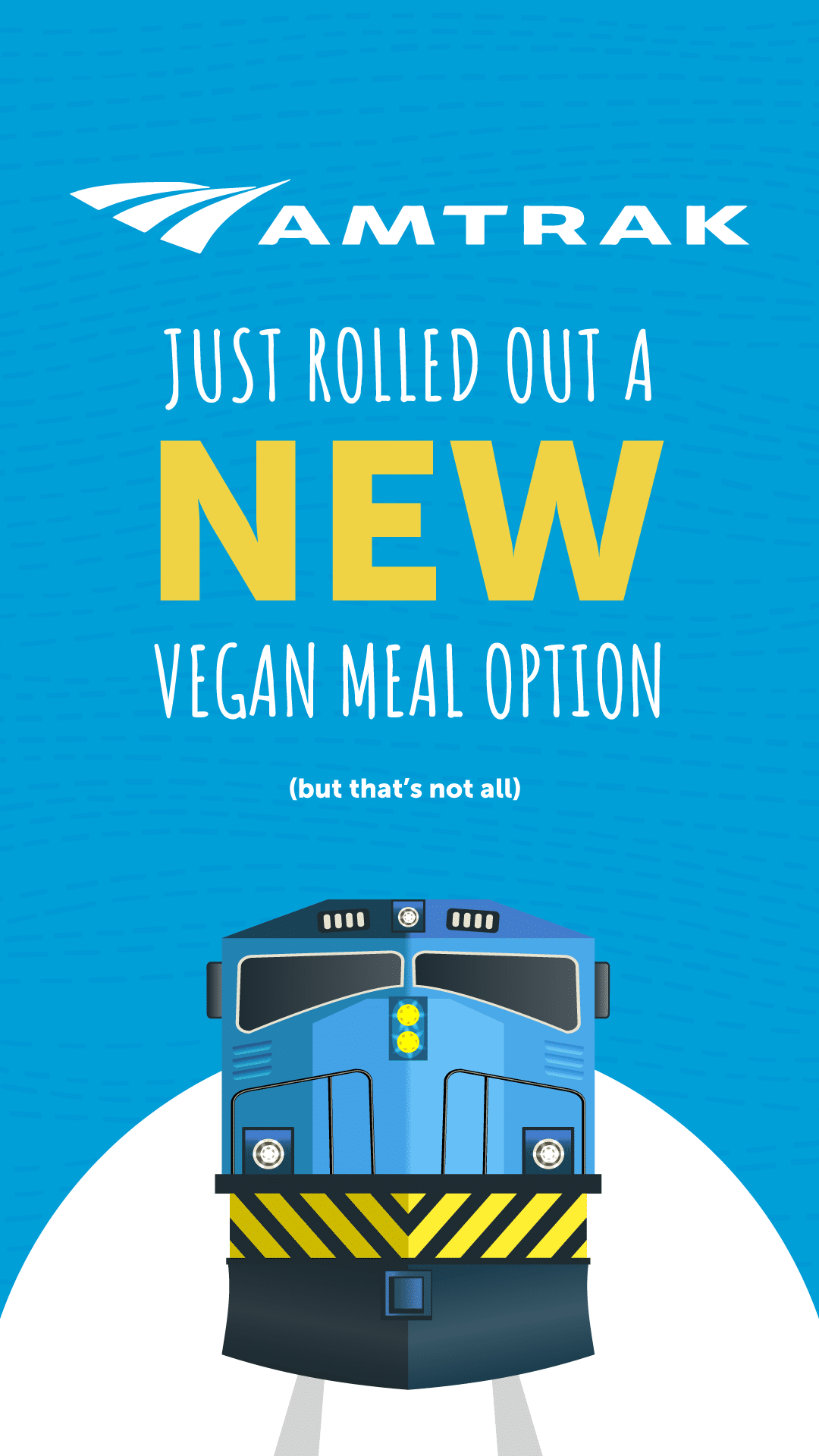 Amtrak Just Rolled Out a New Vegan Meal Option but That's Not All