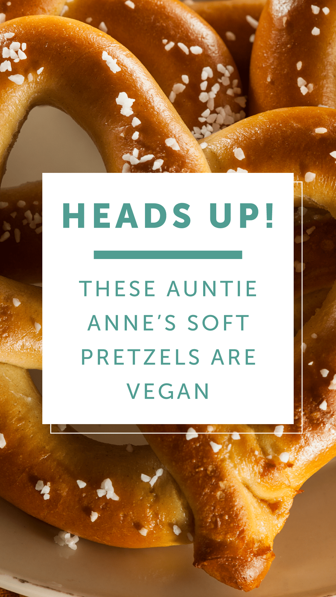 Heads Up! These Auntie Anne's Soft Pretzels Are Vegan