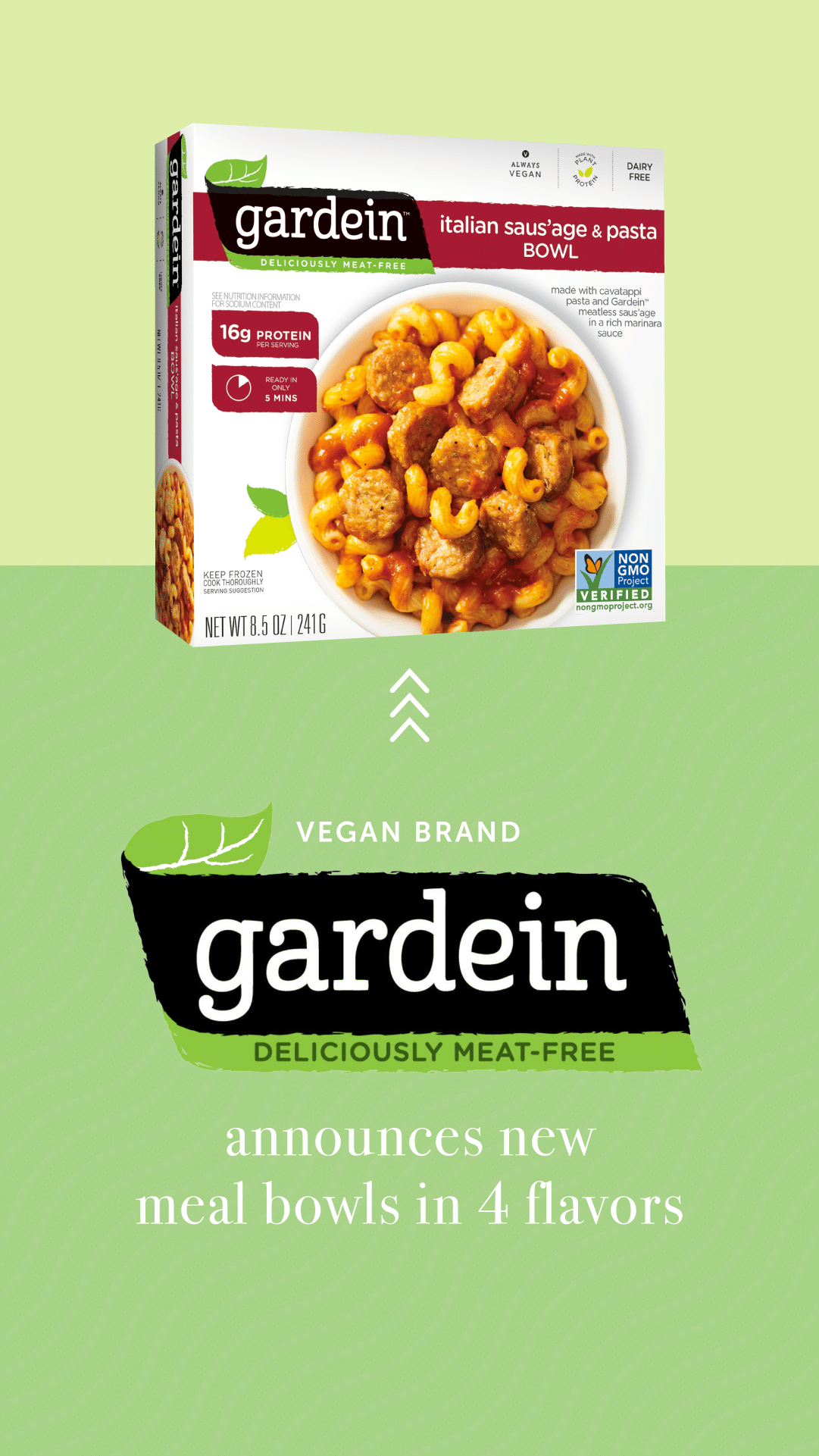 Vegan Brand Gardein Announces New Meal Bowls in Four Flavors