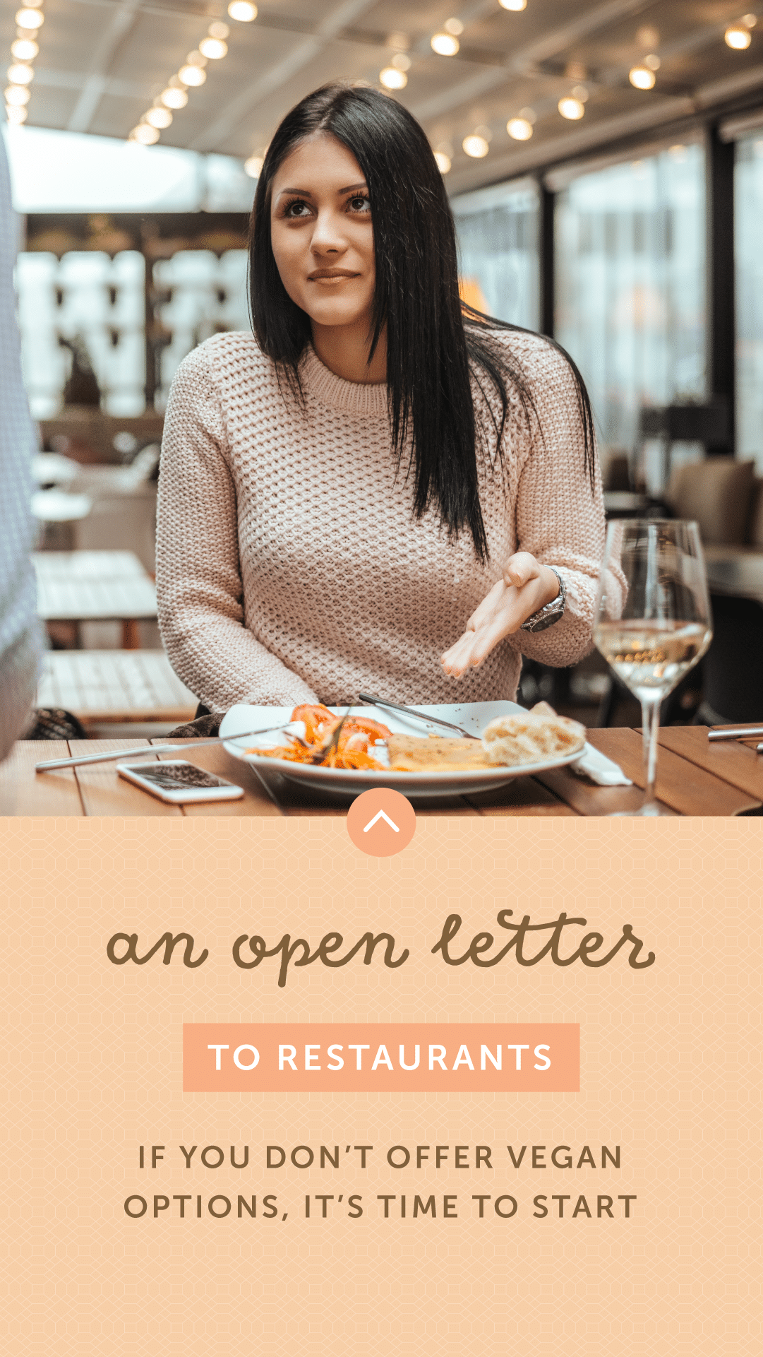 An Open Letter to Restaurants: If You Don't Offer Vegan Options, It's Time to Start