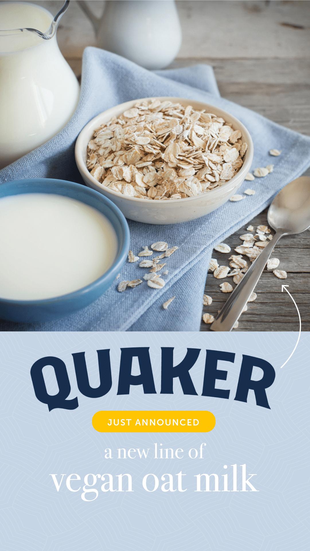 Quaker Just Announced a New Line of Vegan Oat Milk