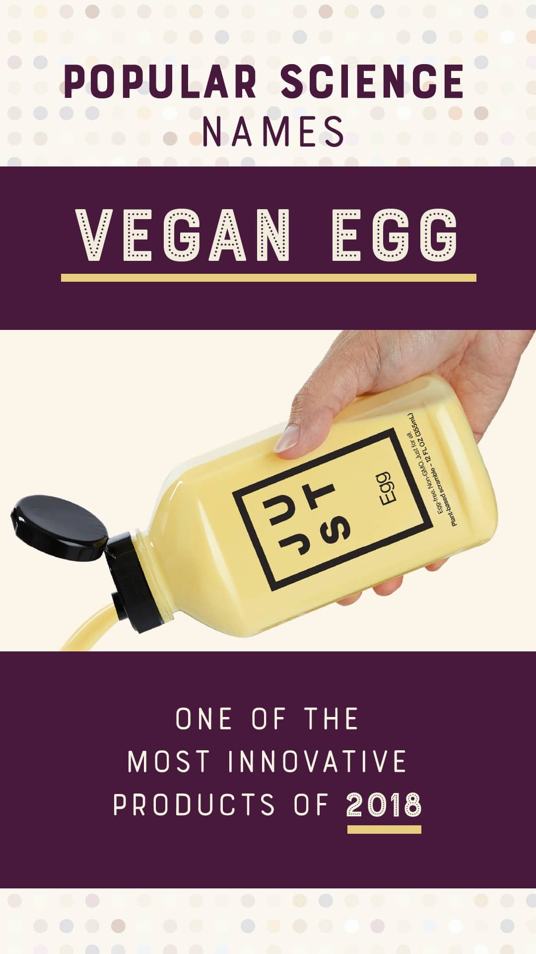 Popular Science Names Vegan Egg One of the Most Innovative Products of 2018
