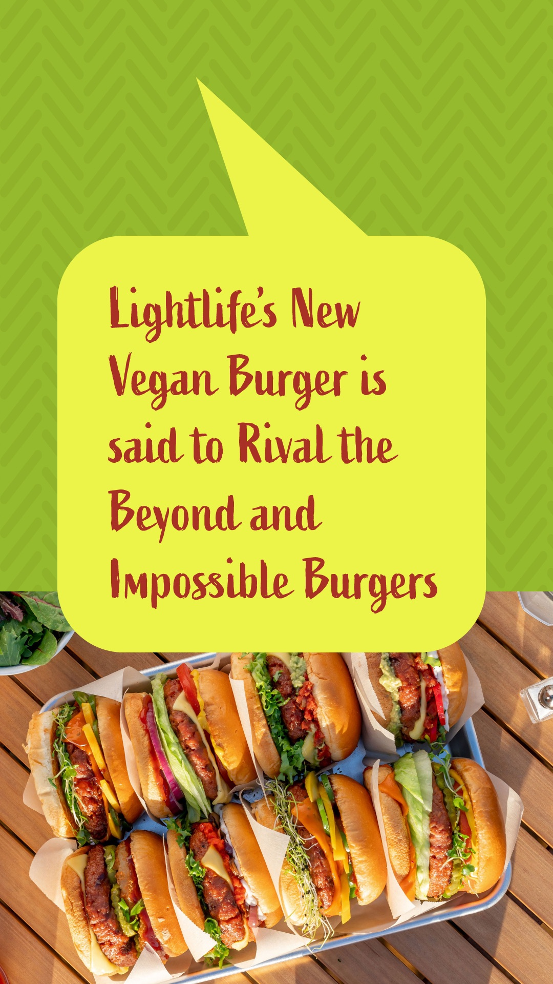 Lightlife's New Vegan Burger Is Said to Rival the Beyond and Impossible Burgers