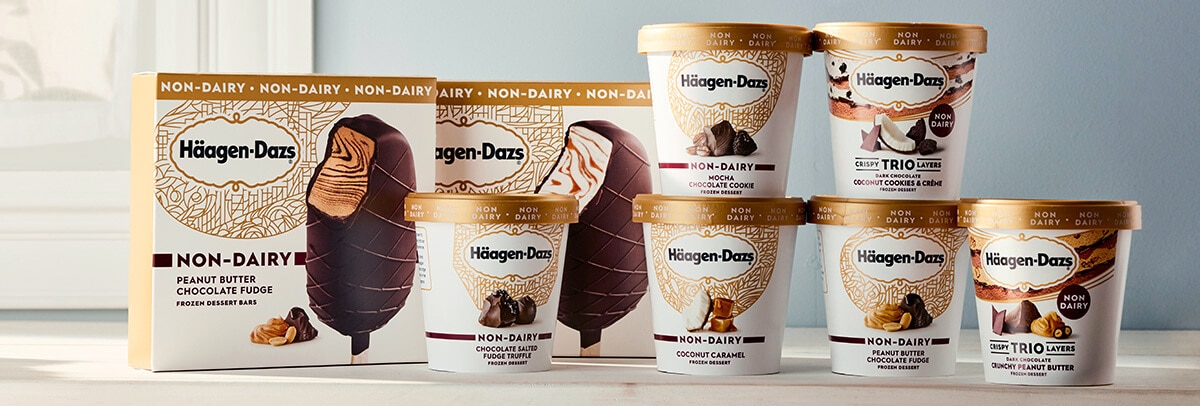 Häagen-Dazs Expands Vegan Line With New Ice Cream Bars and Layered Pints