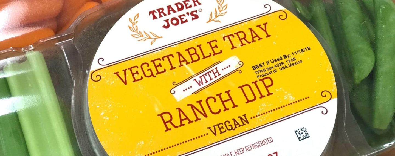 Trader Joe's Debuts Veggie Tray With Vegan Ranch Dip