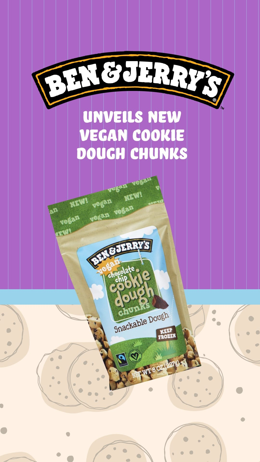 Ben & Jerry's Unveils New Vegan Cookie Dough Chunks