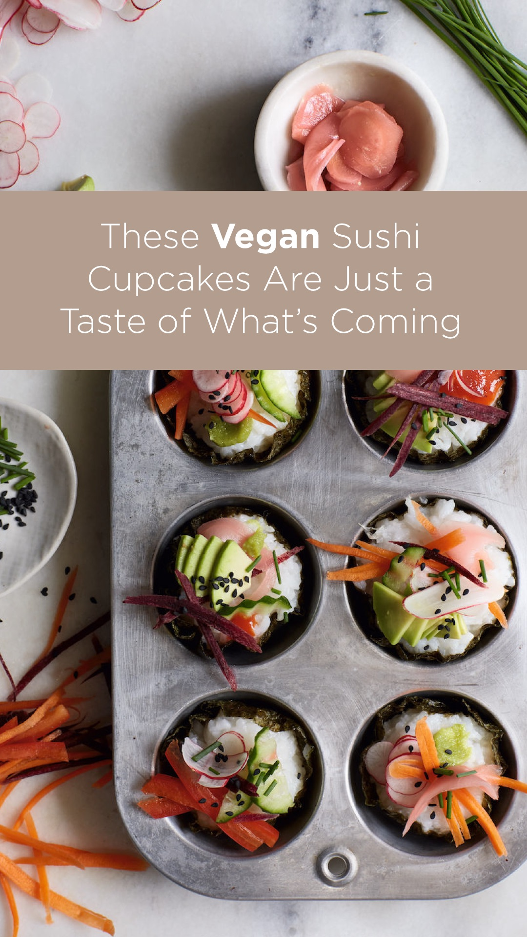 These Vegan Sushi Cupcakes Are Just a Taste of What's Coming