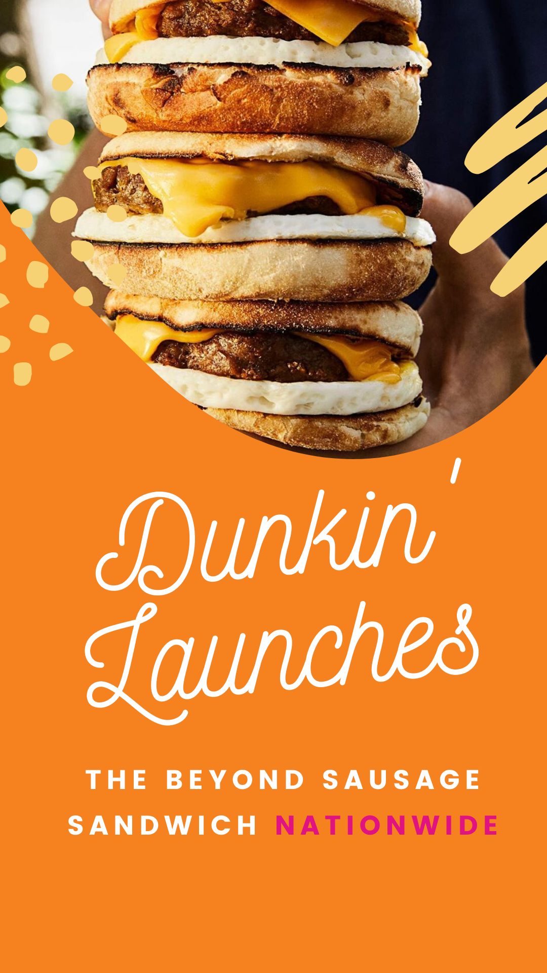 Dunkin' Launches the Beyond Sausage Sandwich Nationwide