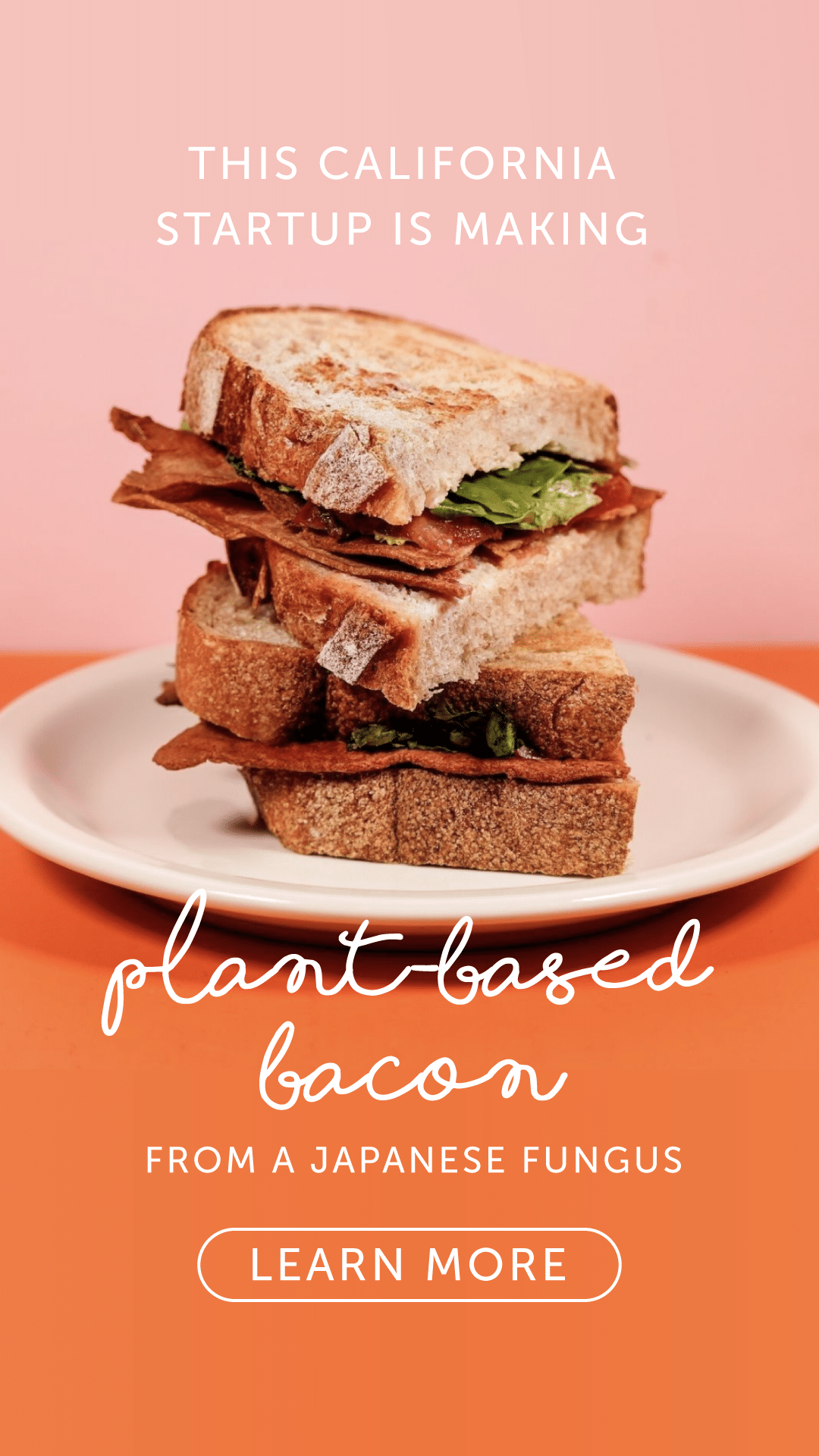 This California Startup Is Making Plant-Based Bacon from a Japanese Fungus