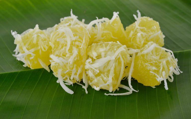 Bollos de yuca y coco