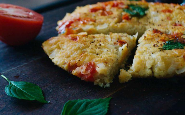 Omelette de garbanzo