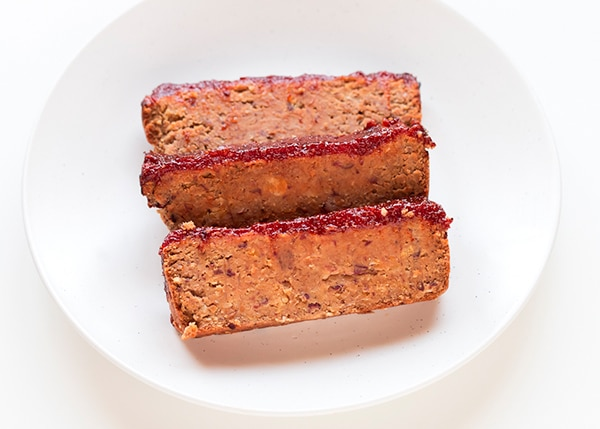 pastel de carne vegano