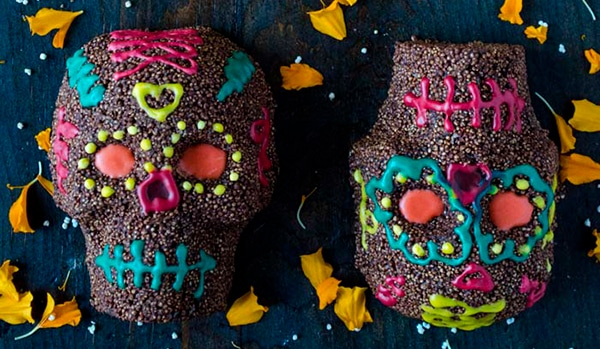 calaveritas de chocolate veganas