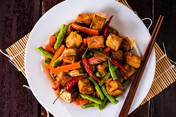 comida asiatica vegana