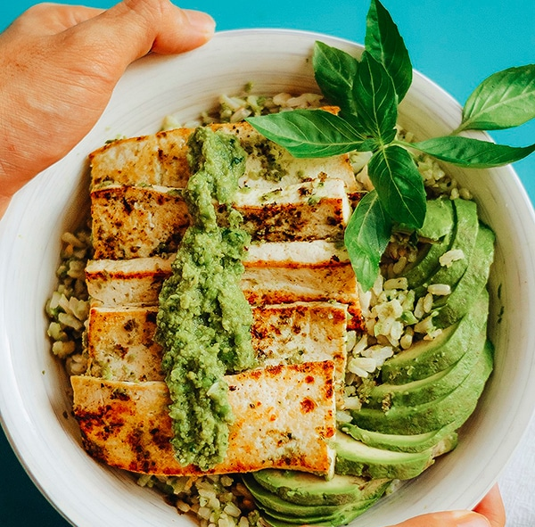 recetas con tofu al pesto