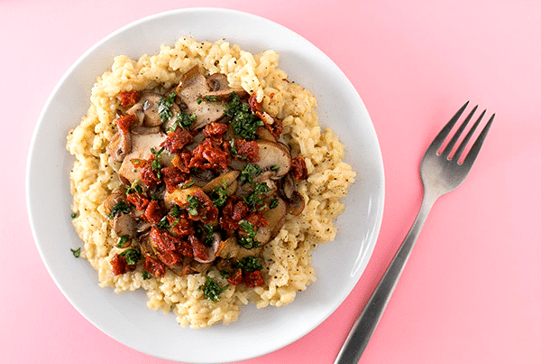 recetas veganas de risotto de hongos