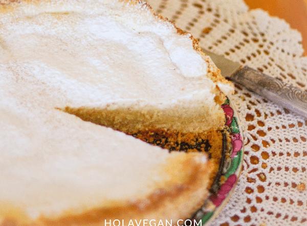 torta de queso vegano