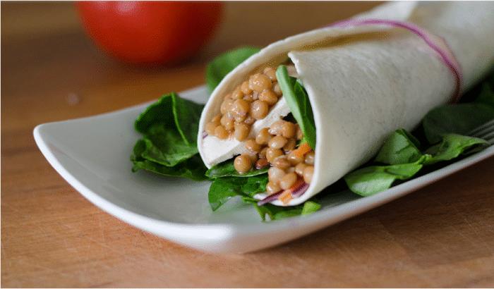 comida vegana para el lunch