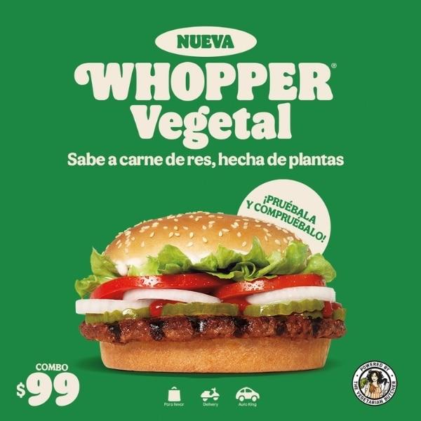 hamburguesa whoper a base de plantas