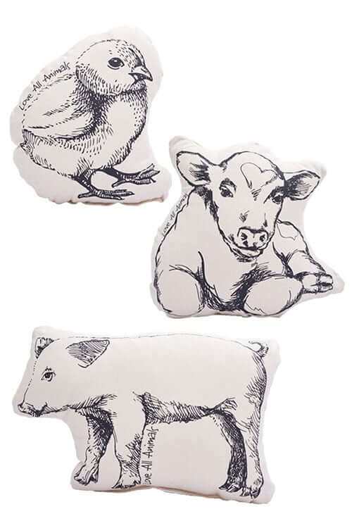 'Love All Animals' Pillows