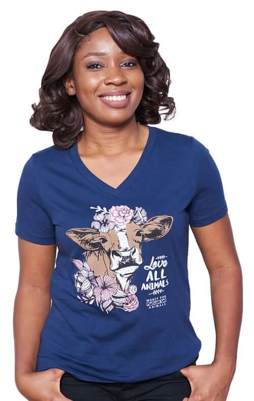 'Love Animals' V-neck