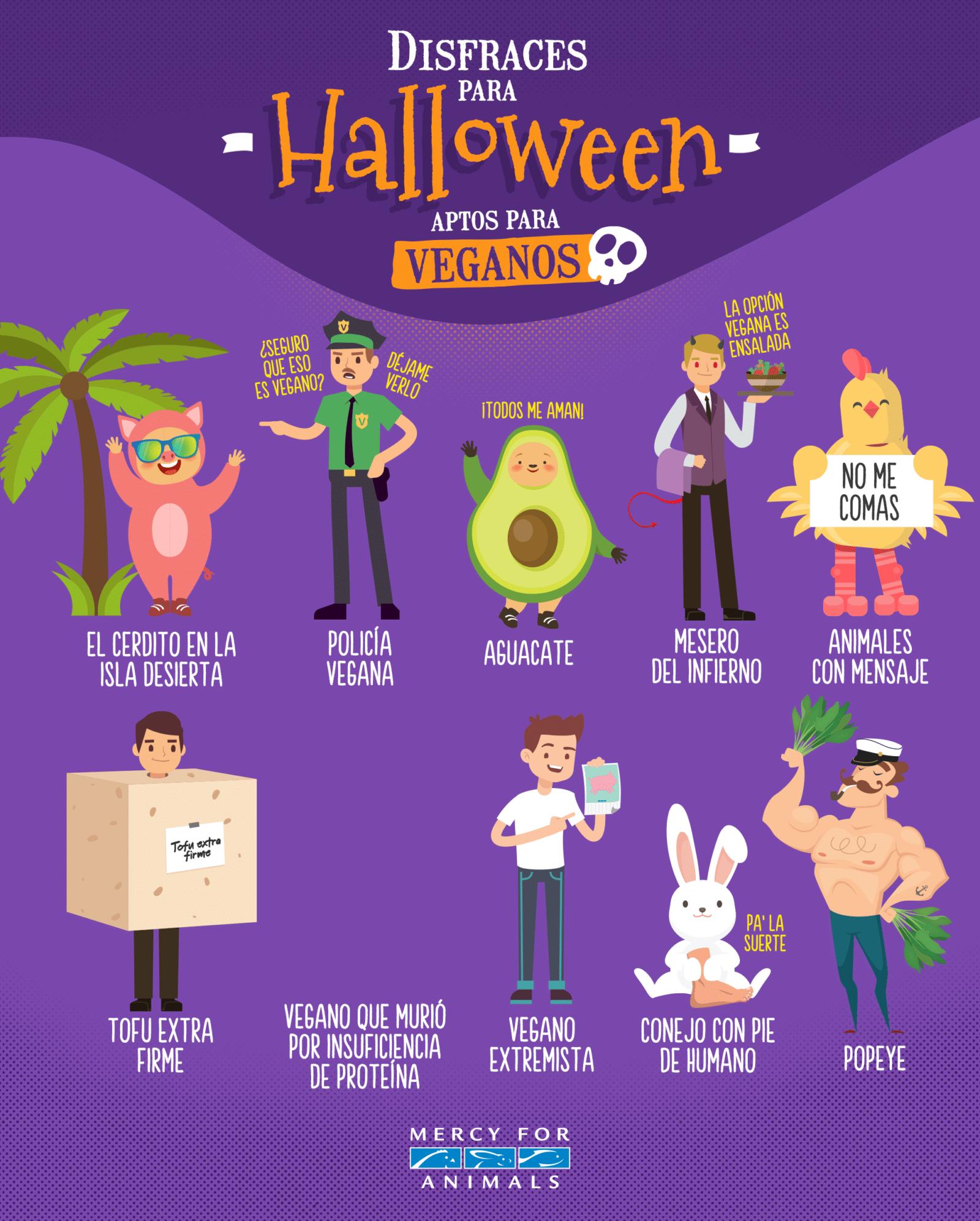 Disfraces para Halloween aptos para veganos