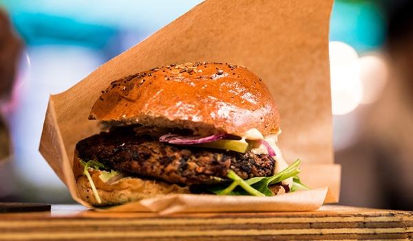 hamburguesa vegana de avena