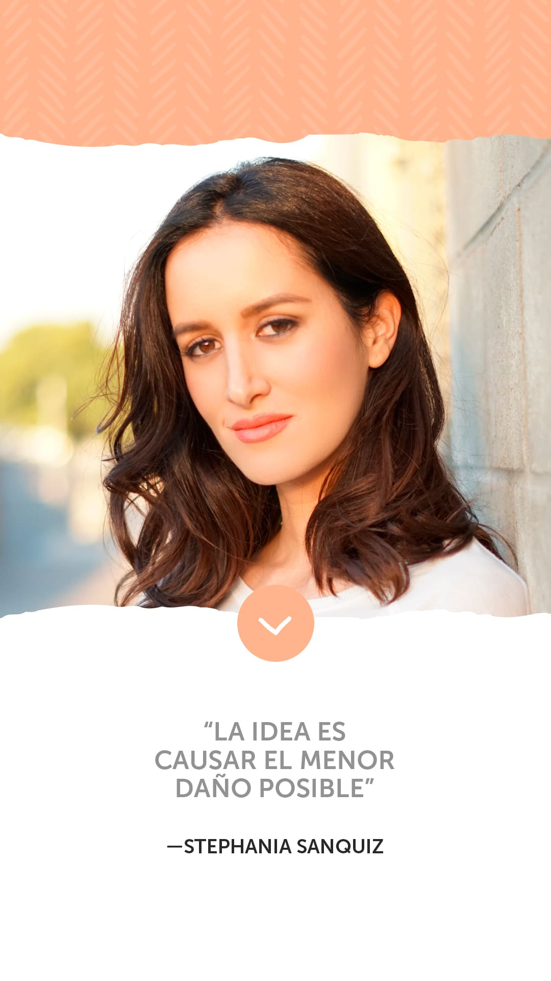 """La idea es causar el menor daño posible"" —Stephania Sanquiz"