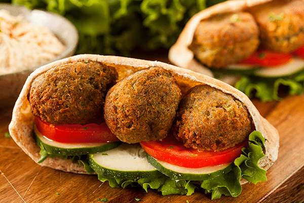 comida del medio oriente vegana