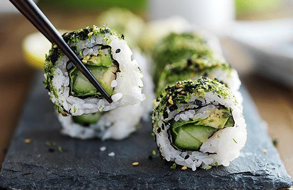 comida japonesa vegana