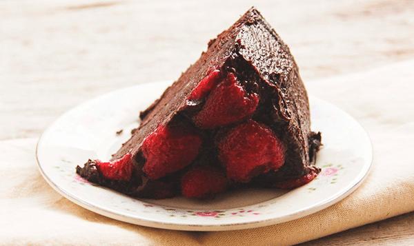 pastel vegano de chocolate