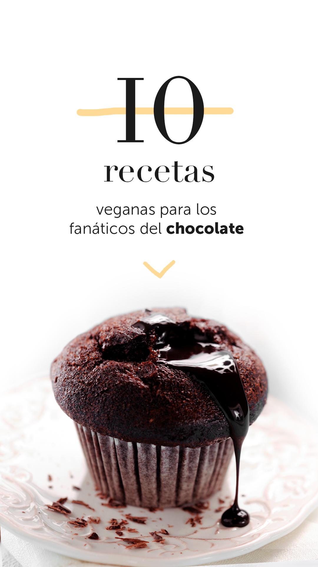 10 recetas veganas para los fanáticos del chocolate